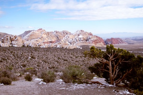 fresh snow added drama to the breathtaking desert landscape