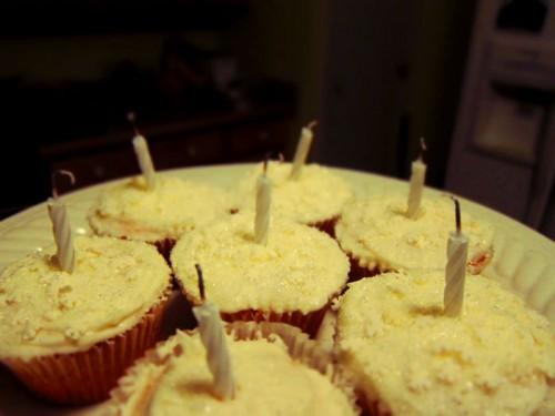 Yummy birthday cupcakes