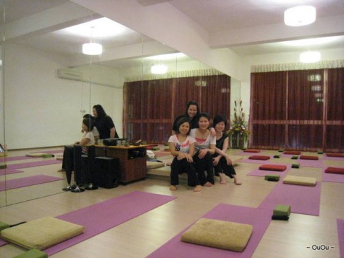 My sisters and Sze Sze (left) after yoga class
