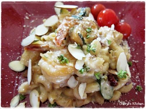 Shrimp Garden Macaroni & Cheese