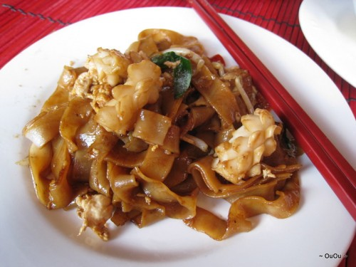 Char Kway Teow Seafood (flat rice noodle stir-fried)