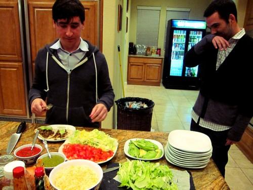 Devin & Ashton - making tacos