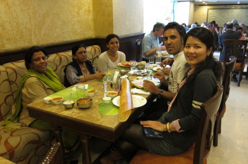 family (& big piece of paper dosai)