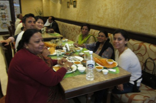 Eating out in India is a family affair