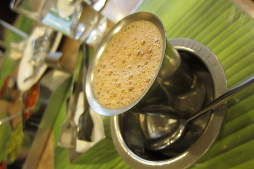 South Indian Coffee (usually is served after the meal to help with digestion)