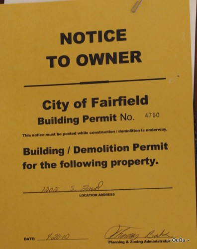 building permit: $25