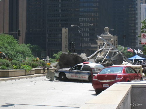 Transformer 3 filming, Chicago Downtown