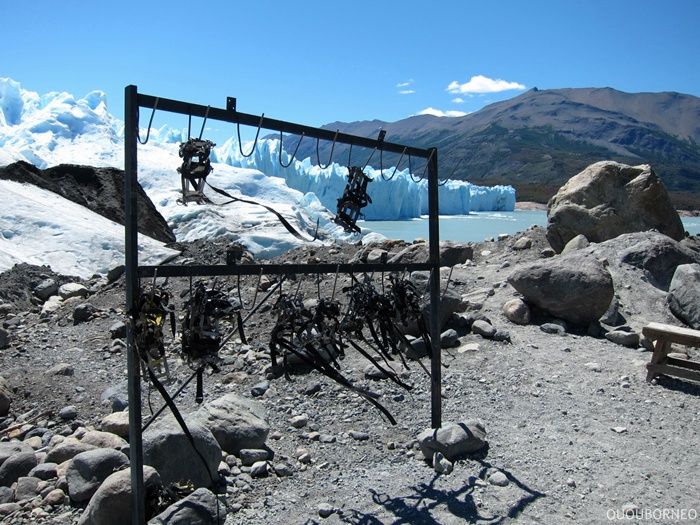 Crampons in the wind