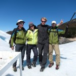 With guides Morries and Juan